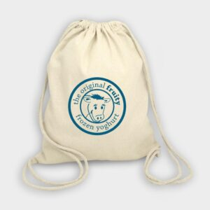 Roundway Natural Cotton Drawstring Backpack