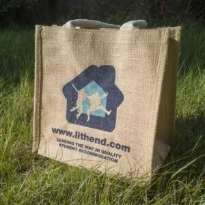 Foxham Jute Bag with Coloured Trim