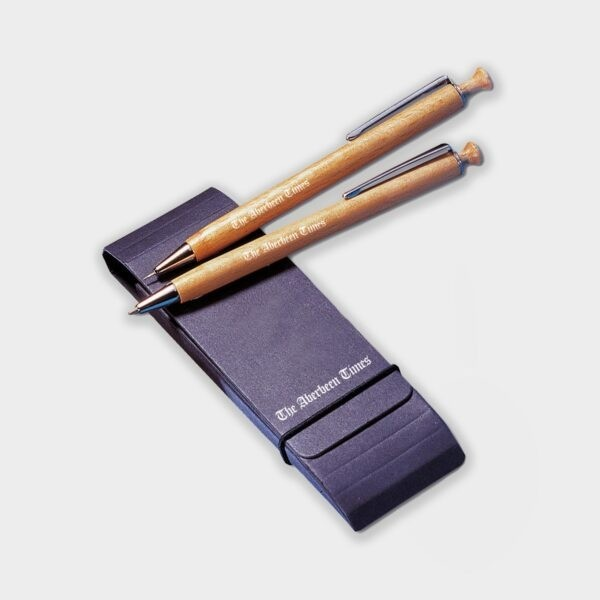 Certified Sustainable Timber pen and pencil combo