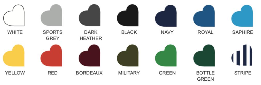 LONG SLEEVE T-SHIRT colours