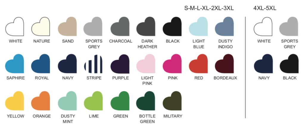 MENS FIT T-SHIRT colours