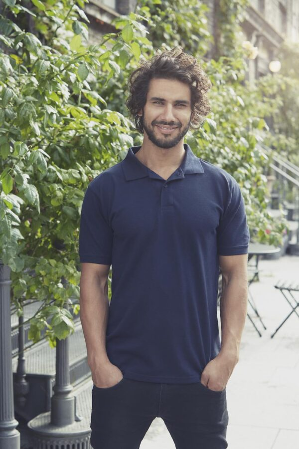 O20080 Mens SS Polo Shirt - Navy