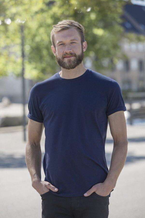 O60012 Mens Roll Up T-shirt - Navy