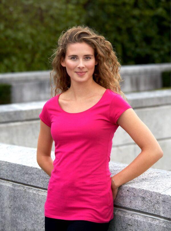 O81010 Ladies Roundneck T-shirt - Pink