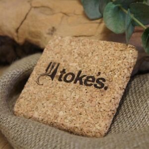 branded promotional square cork coaster