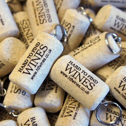branded promotional cork keyring