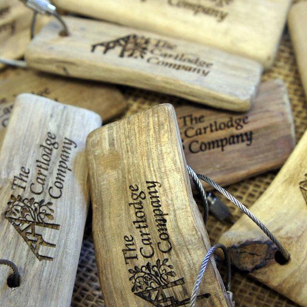 branded promotional driftwood keyring