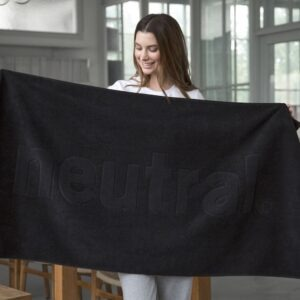 Organic fairtrade cotton Towel - Black