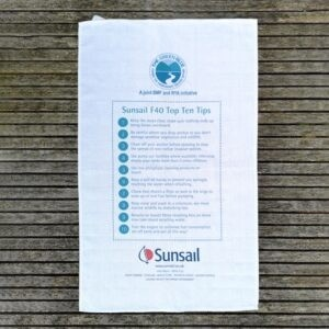 Screen printed promotional tea towel