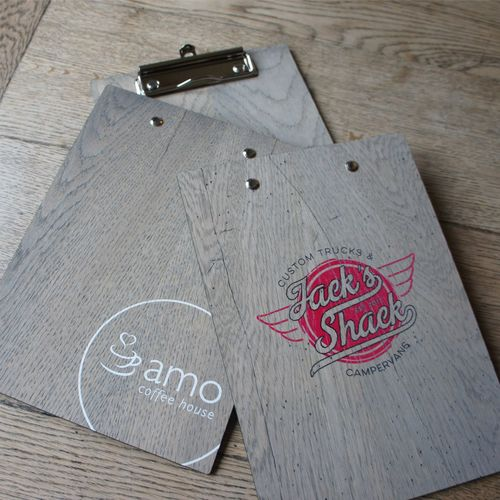 branded promotional wood clipboard