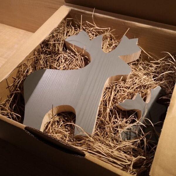 wooden Christmas Reindeer family set